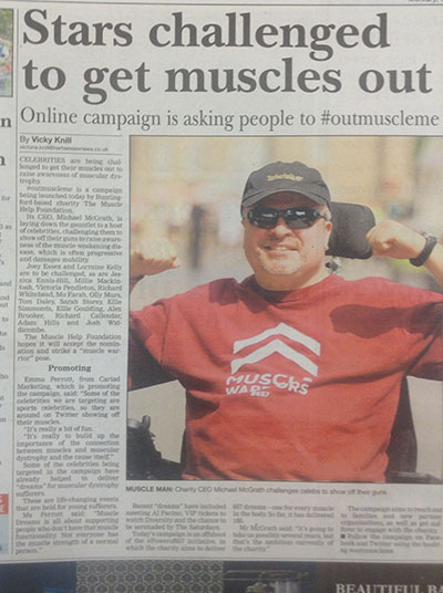 'Can you #outmuscle me?' Asks The Muscle Help Foundation
