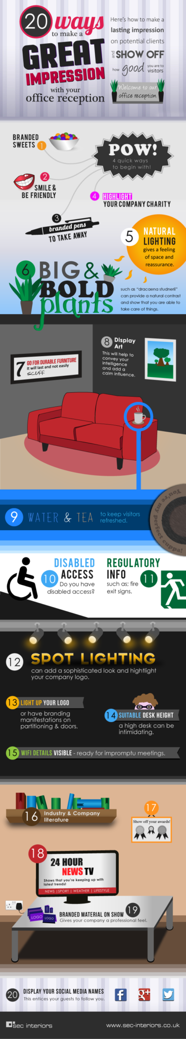 Office Reception Design Infographic