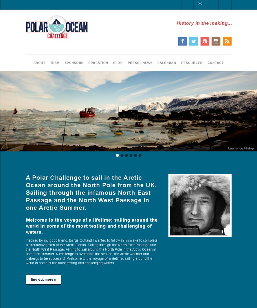 Polar Ocean Challenge website