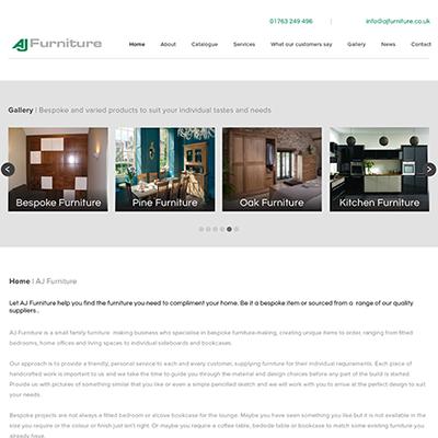 Cariad Marketing Launches AJ Furniture website