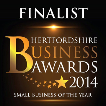 Hertfordshire Business Awards Finalist small business of the year