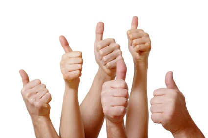 Thumbs up to social media