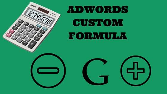 AdWords Custom column