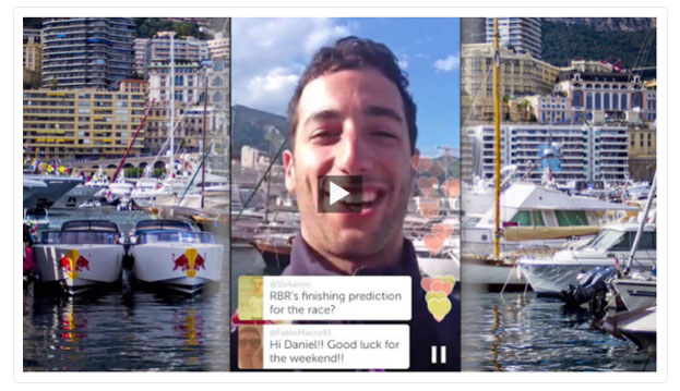 Red Bull using Twitter's Periscope to full effect