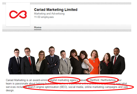 Cariad-Marketing-LinkedIn-Page