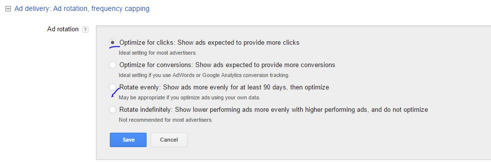 Adwords expandable text
