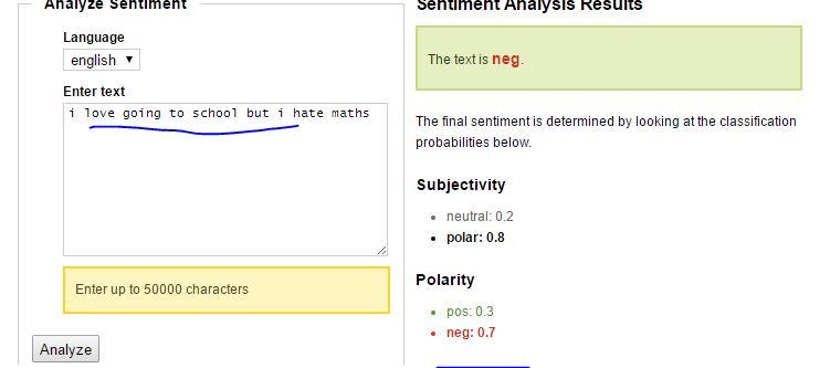 sentimental analysis example