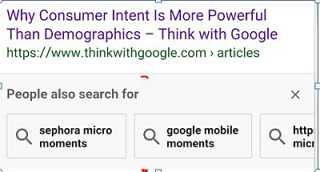mobile search results page