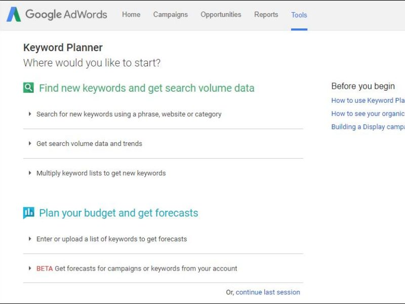 Free SEO Tool, Google Adwords